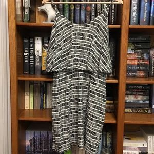 Brand New Old Navy White and Black Sun Dress